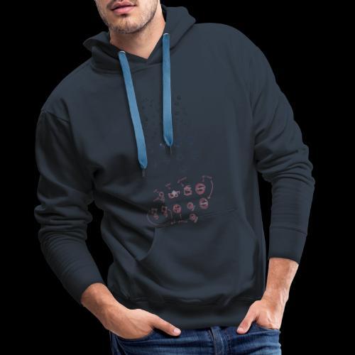 Overscoped concept logos - Men's Premium Hoodie