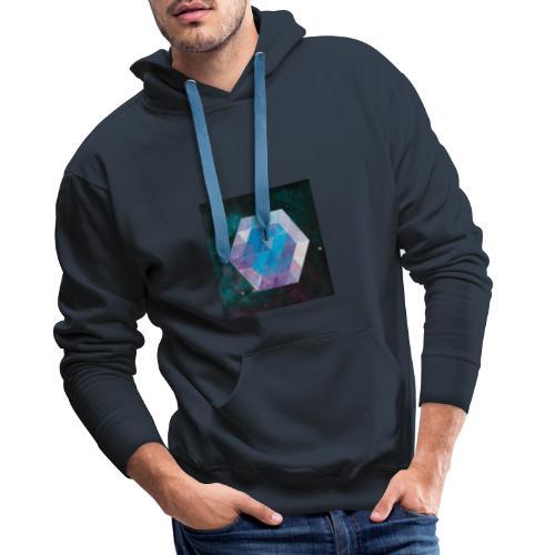 Galaxie hexagone - Sweat-shirt à capuche Premium pour hommes