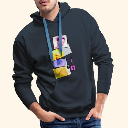 Untitled 3 explose - Sweat-shirt à capuche Premium pour hommes