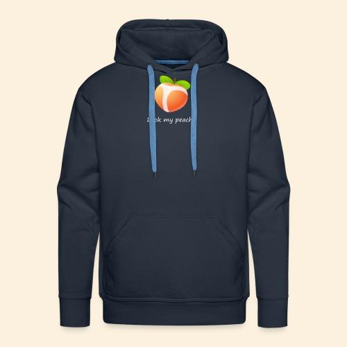 Look my peach in white - Men's Premium Hoodie