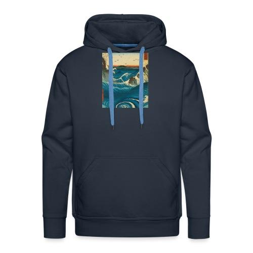 KANOZ Design, Mer Sauvage - Sweat-shirt à capuche Premium pour hommes
