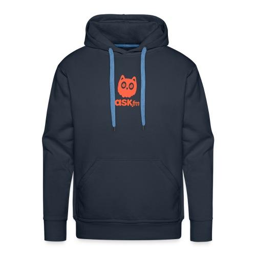 Normale mannen T-Shirt met Askfm logo. - Mannen Premium hoodie
