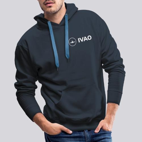 IVAO (Logo Complet Blanc) - Sweat-shirt à capuche Premium pour hommes