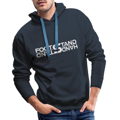handstandwhite - Felpa con cappuccio premium da uomo