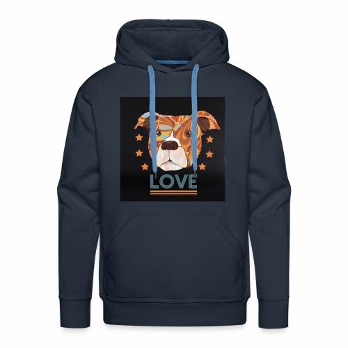 PIT BULL TERRIER HEAD LOVE DOG T-SHIRT DESIGN - Men's Premium Hoodie