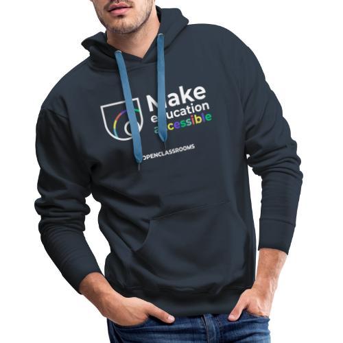 Dark crest - Sweat-shirt à capuche Premium pour hommes