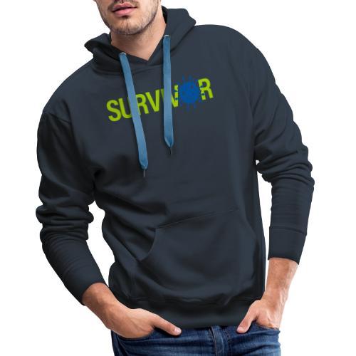 Corona Survivor - Mannen Premium hoodie
