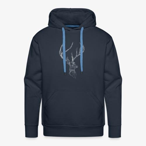 Deer head hertenkop gewei - Mannen Premium hoodie