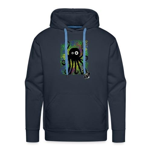 Sweet Octopus by BlackenedMoonArts, with logo - Herre Premium hættetrøje