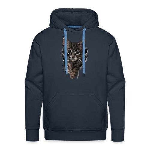 Vorschau: Katze Riss - Männer Premium Hoodie