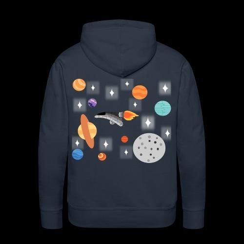 Espacio Exterior - Sudadera con capucha premium para hombre