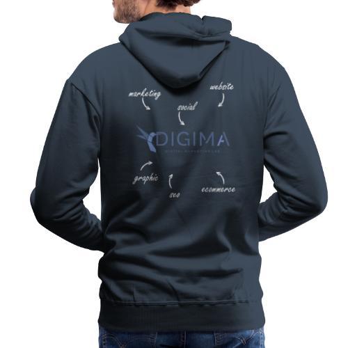 DIGIMA - Services - Felpa con cappuccio premium da uomo
