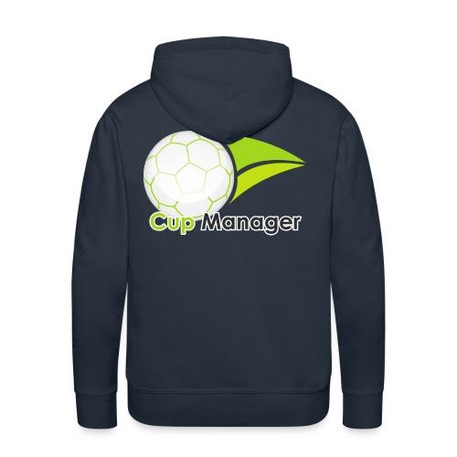 Cup Manager Vertikal Logo - Premiumluvtröja herr