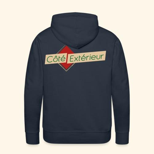 logo cote exterieur - Sweat-shirt à capuche Premium pour hommes