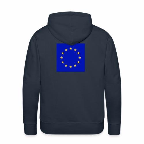 TRUE EU BLUE - Männer Premium Hoodie