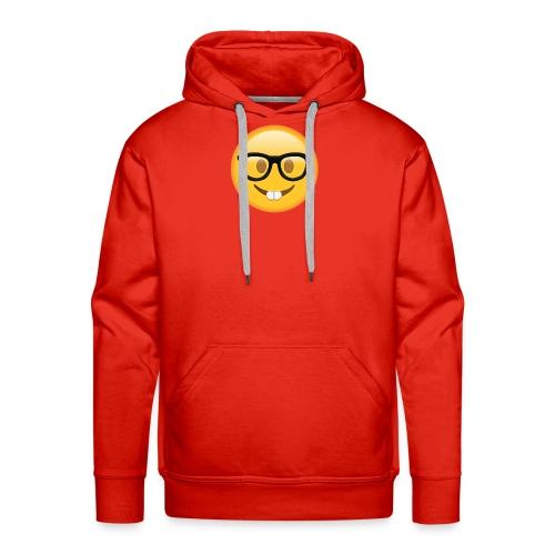 Nerd with Glasses Emoji - Men's Premium Hoodie