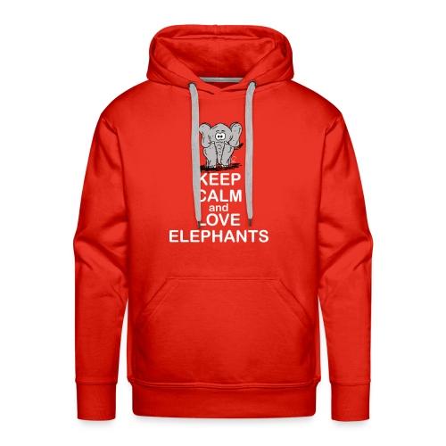 Keep Calm and Love Elephants - Männer Premium Hoodie