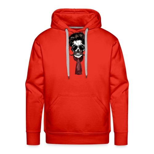 tete de mort hipster crane foulard echarpe skull m - Sweat-shirt à capuche  Premium 3dbbbe6440a