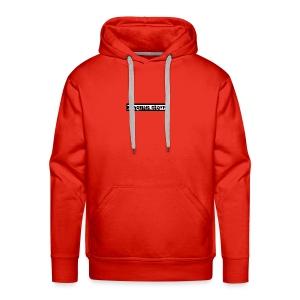 Rød Cap med Logo - Premium hettegenser for menn