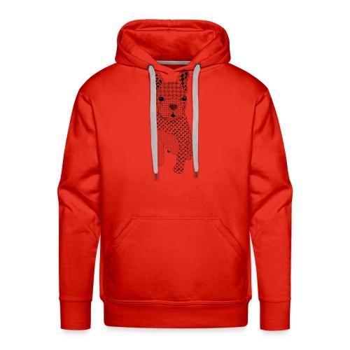 Bulldog puppy patroon - Mannen Premium hoodie