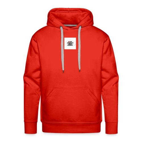 i love my african grey parrot - Mannen Premium hoodie