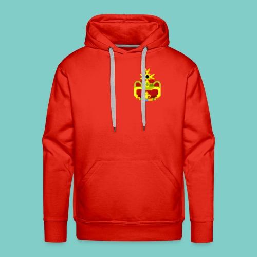 Couronne Pixel art - Sweat-shirt à capuche Premium pour hommes