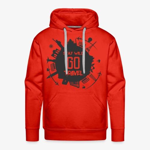 Stay Wild Go Travel - Mannen Premium hoodie
