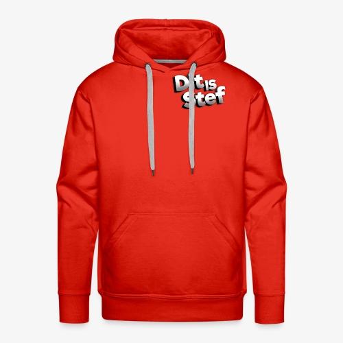 Dit is Stef Logo - Mannen Premium hoodie