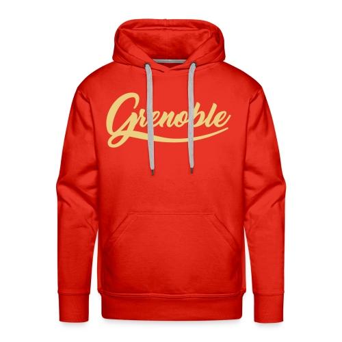 grenoble, old school - Sweat-shirt à capuche Premium pour hommes
