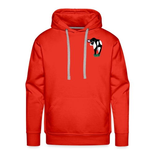 Quirky Cows Rear view - Men's Premium Hoodie