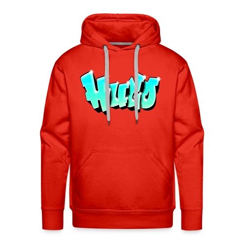 Graffiti Name Hugo Bleu - Men's Premium Hoodie