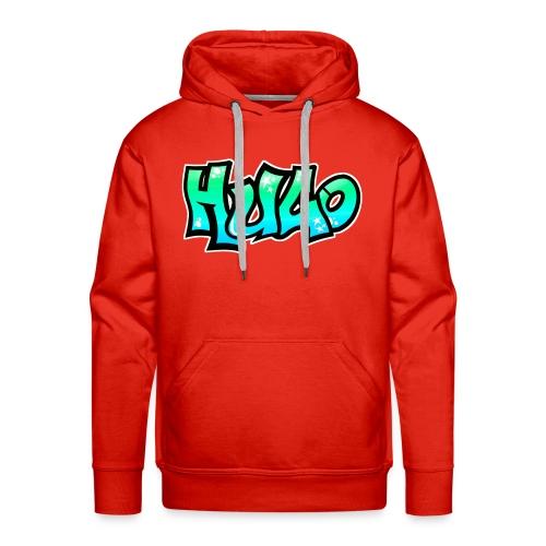 Graffiti Name Hugo BLUE GREEN - Men's Premium Hoodie