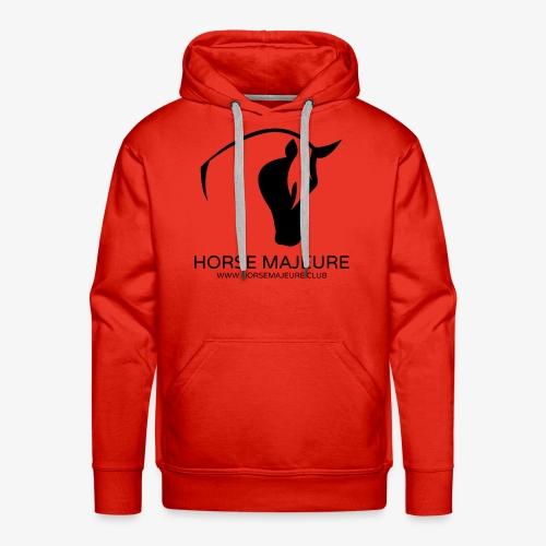 Horse Majeure Logo / Musta - Miesten premium-huppari