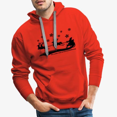Weihnachtsmann black - Männer Premium Hoodie