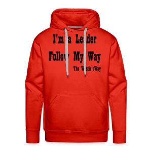 Follow My Way Black - Bluza męska Premium z kapturem