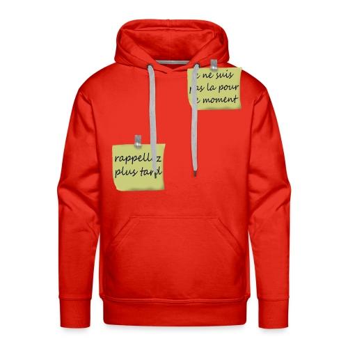 humoristique post-it - Sweat-shirt à capuche Premium pour hommes