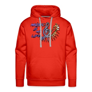Music is my life - Dames Shirt - Mannen Premium hoodie