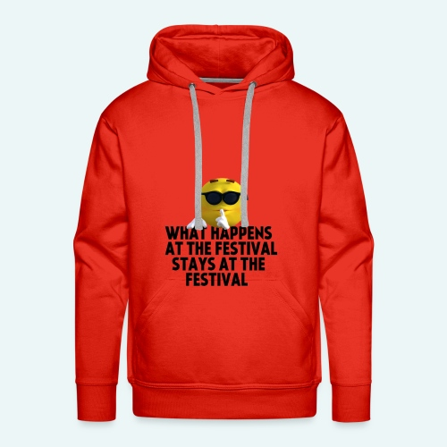 What happens at the festival guy - Mannen Premium hoodie