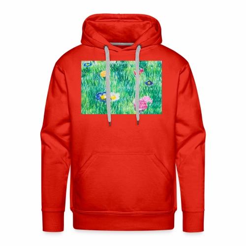 Blumenwiese - Männer Premium Hoodie