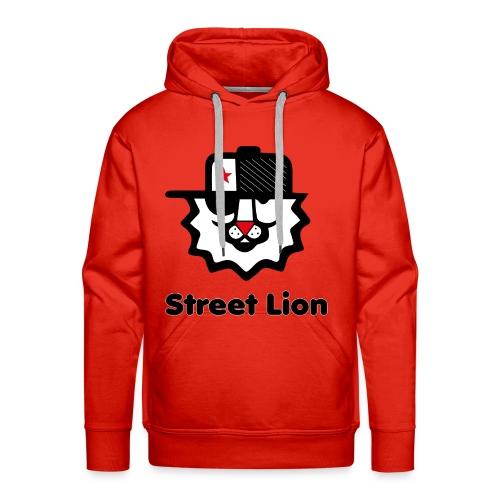 Street lion - Sweat-shirt à capuche Premium pour hommes