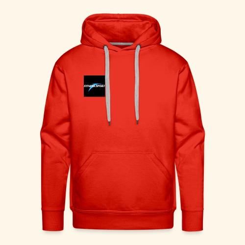 fitnes sport 1 - Sweat-shirt à capuche Premium pour hommes