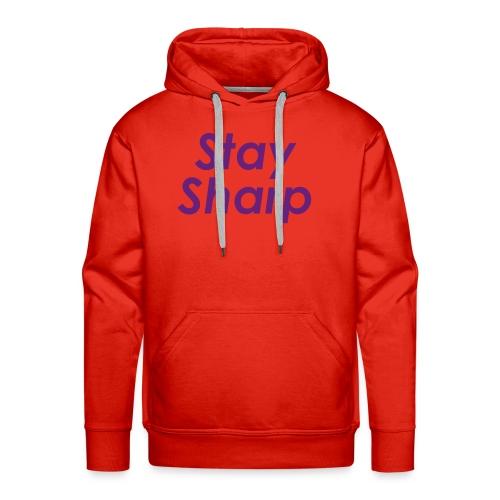 Stay Sharp - Felpa con cappuccio premium da uomo
