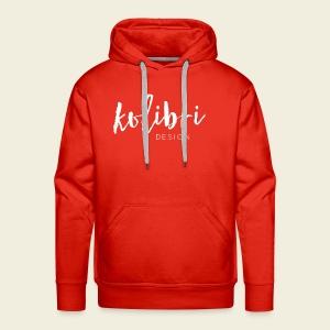 Logo Kolibri Design weiss - Männer Premium Hoodie