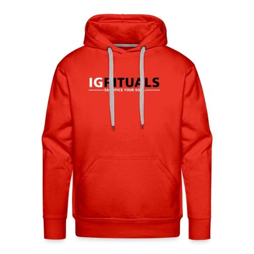ig rituals text black and white - Men's Premium Hoodie