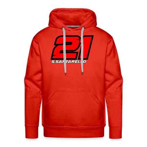 21 con nome - Felpa con cappuccio premium da uomo