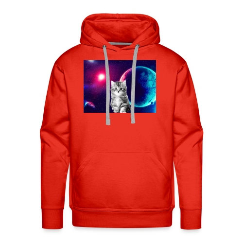 Cute cat in space - Miesten premium-huppari