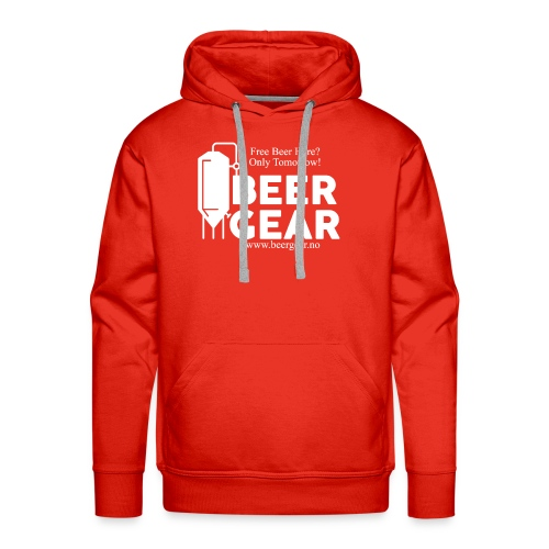 Beer Gear free Beer White - Premium hettegenser for menn