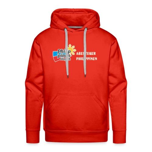 Philippinen-Blog Logo deutsch orange/weiss - Männer Premium Hoodie