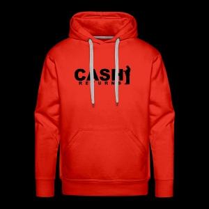 CASH RETURNS Logo (Black) - Men's Premium Hoodie