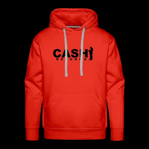 CASH RETURNS Logo (Black) - Men's Premium Hoodie